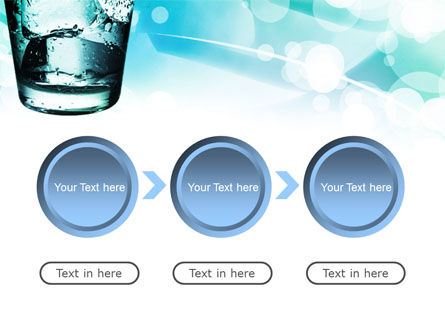 Glass Of Cold Water With Ice Cubes PowerPoint Template Slide 5
