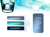 Glass Of Cold Water With Ice Cubes PowerPoint Template#11