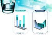Glass Of Cold Water With Ice Cubes PowerPoint Template#13
