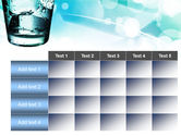 Glass Of Cold Water With Ice Cubes PowerPoint Template#15