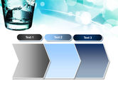 Glass Of Cold Water With Ice Cubes PowerPoint Template#16