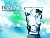 Glass Of Cold Water With Ice Cubes PowerPoint Template#20
