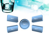 Glass Of Cold Water With Ice Cubes PowerPoint Template#6