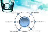 Glass Of Cold Water With Ice Cubes PowerPoint Template#7