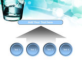 Glass Of Cold Water With Ice Cubes PowerPoint Template#8