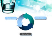 Glass Of Cold Water With Ice Cubes PowerPoint Template#9