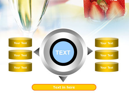 Goblet With White Wine PowerPoint Template Slide 12