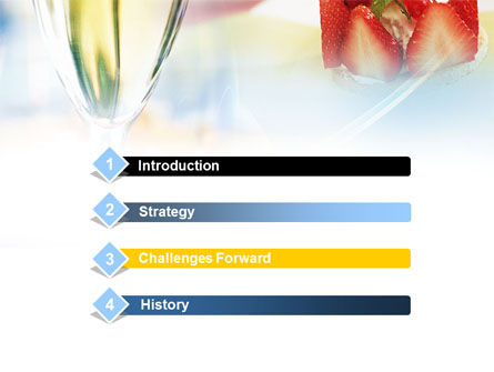Goblet With White Wine PowerPoint Template, Slide 3, 00865, Food & Beverage — PoweredTemplate.com