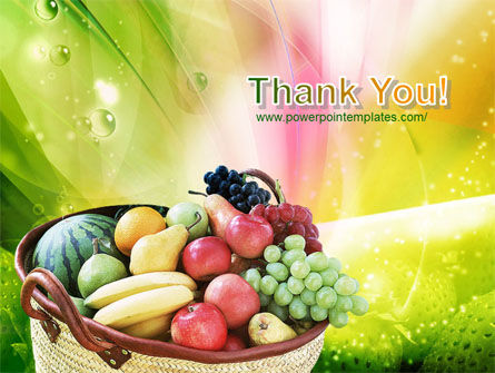 Basket of Fruits PowerPoint Template Slide 20