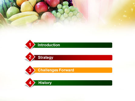Basket of Fruits PowerPoint Template, Slide 3, 00866, Agriculture — PoweredTemplate.com