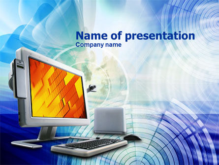 Personal Computer Terminal PowerPoint Template, 00868, Technology and Science — PoweredTemplate.com