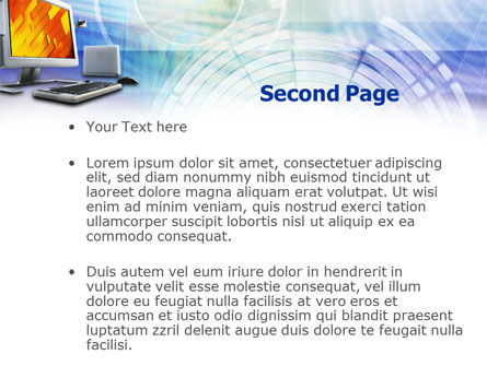 Personal Computer Terminal PowerPoint Template, Slide 2, 00868, Technology and Science — PoweredTemplate.com