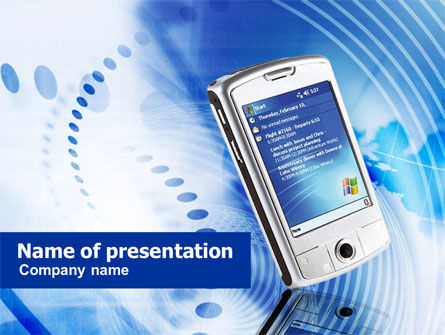 Telecommunication: Smartphone PowerPoint Template #00869