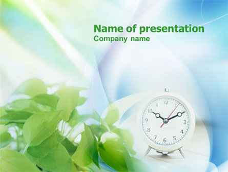 Nature & Environment: Ochtend PowerPoint Template #00870