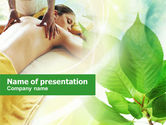 Health and Recreation: Relaxing Massage PowerPoint Template #00871