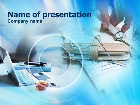 Business Timing PowerPoint Template, 00872, Business Concepts — PoweredTemplate.com