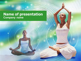 Sports: Modern Yoga PowerPoint Template #00876