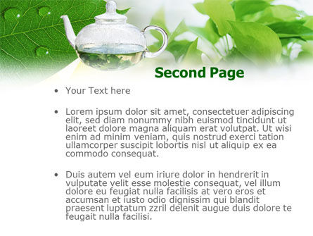 Green Tea PowerPoint Template Slide 2