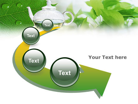 Green Tea PowerPoint Template Slide 6