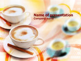 Food & Beverage: Cappuccino PowerPoint Template #00878