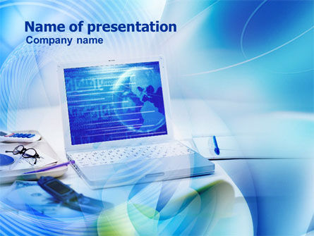 Technology and Science: Business Laptop PowerPoint Template #00881