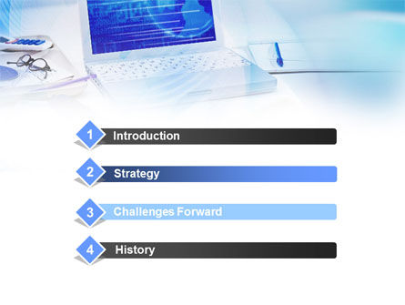 Business Laptop PowerPoint Template, Slide 3, 00881, Technology and Science — PoweredTemplate.com