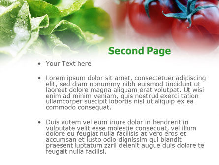 Tomato And Cabbage PowerPoint Template Slide 2