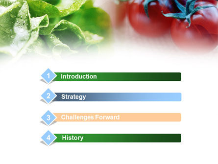 Tomato And Cabbage PowerPoint Template Slide 3