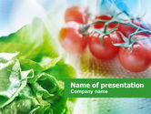 Food & Beverage: Tomato And Cabbage PowerPoint Template #00883