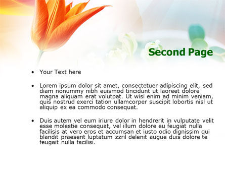 Carrot Colored Tulip PowerPoint Template, Slide 2, 00884, Nature & Environment — PoweredTemplate.com