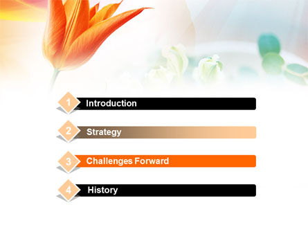 Carrot Colored Tulip PowerPoint Template, Slide 3, 00884, Nature & Environment — PoweredTemplate.com