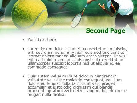 Tennis Ball Hitting PowerPoint Template Slide 2