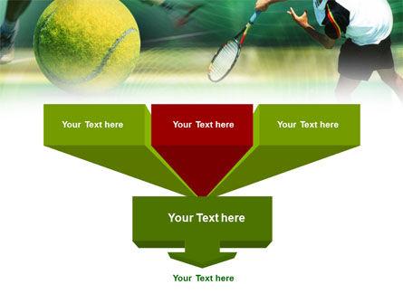Tennis Ball Hitting PowerPoint Template, Slide 3, 00885, Sports — PoweredTemplate.com