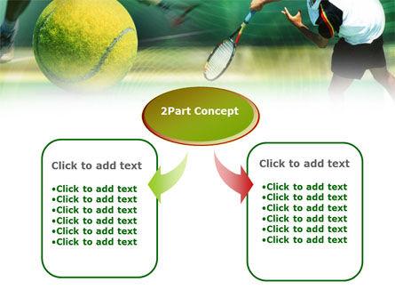 Tennis Ball Hitting PowerPoint Template, Slide 4, 00885, Sports — PoweredTemplate.com