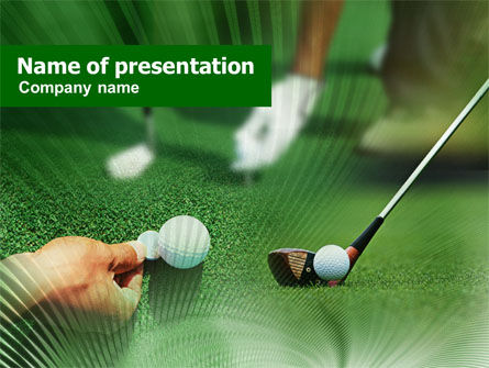 Sports: Golf Ball Hitting PowerPoint Template #00886