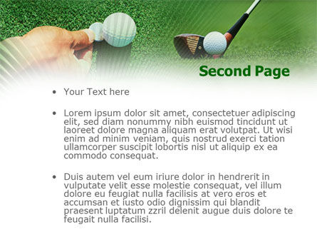 Golf Ball Hitting PowerPoint Template, Slide 2, 00886, Sports — PoweredTemplate.com