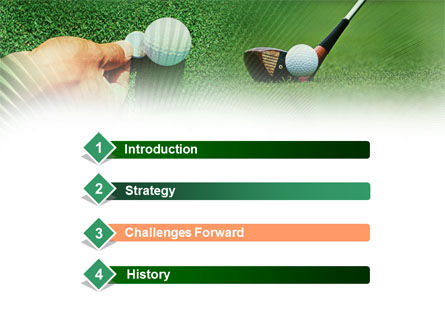 Golf Ball Hitting PowerPoint Template, Slide 3, 00886, Sports — PoweredTemplate.com