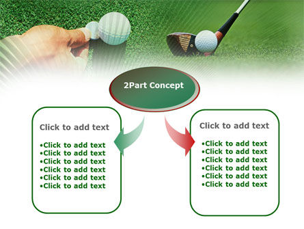 Golf Ball Hitting PowerPoint Template, Slide 4, 00886, Sports — PoweredTemplate.com