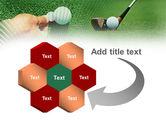 Golf Ball Hitting PowerPoint Template#11