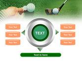 Golf Ball Hitting PowerPoint Template#12
