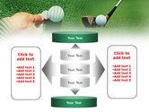 Golf Ball Hitting PowerPoint Template#13
