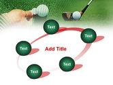 Golf Ball Hitting PowerPoint Template#14