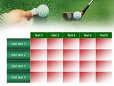 Golf Ball Hitting PowerPoint Template#15