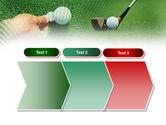 Golf Ball Hitting PowerPoint Template#16