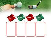 Golf Ball Hitting PowerPoint Template#18