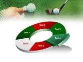 Golf Ball Hitting PowerPoint Template#19