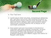 Golf Ball Hitting PowerPoint Template#2