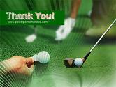Golf Ball Hitting PowerPoint Template#20