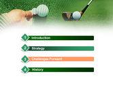 Golf Ball Hitting PowerPoint Template#3