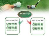 Golf Ball Hitting PowerPoint Template#4
